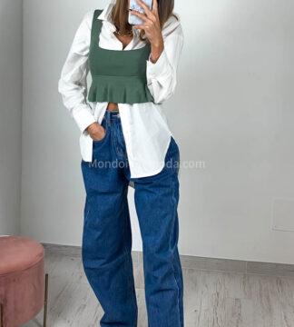 Jeans ganci in vita