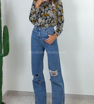 Jeans ripped palazzo
