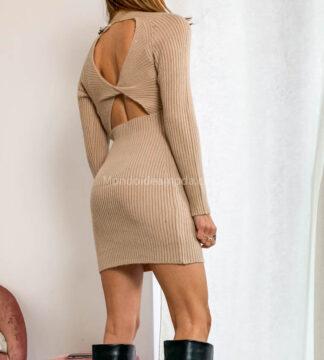 Vestito maglia schiena scoperta