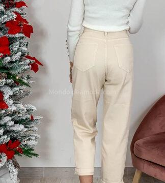 Jeans lavaggio beige