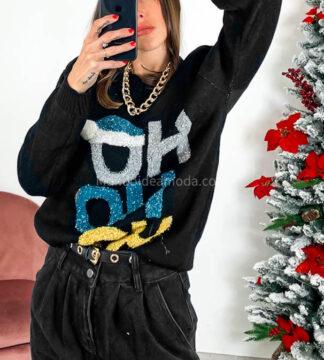 Maglione natalizio ho ho ho