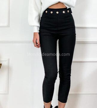 Pantaloni skinny finta cintura