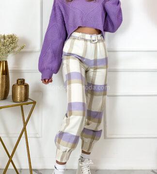 Pantaloni quadri elastici