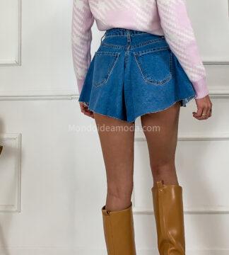Shorts jeans svasato