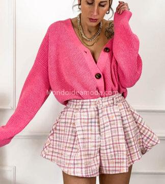 Shorts tweed svasato