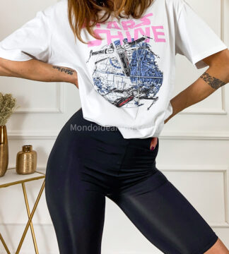 T-shirt oversize stampa