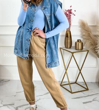 Gilet jeans oversize