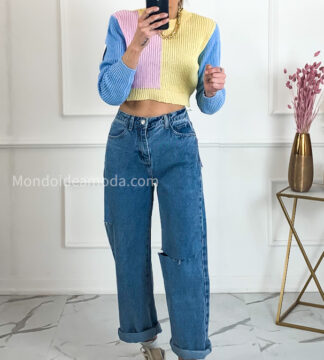 Jeans culotte ripped