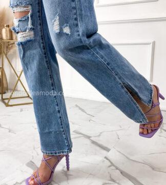 Jeans fermo con strappi