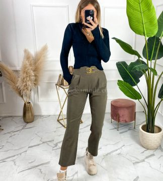 Pantaloni con fibbia
