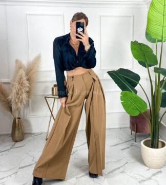 Pantaloni con plissè