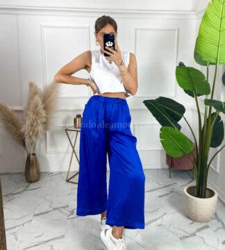 Pantaloni effetto seta