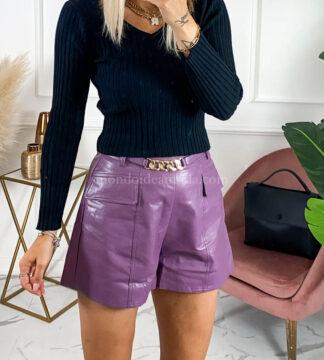 Shorts similpelle